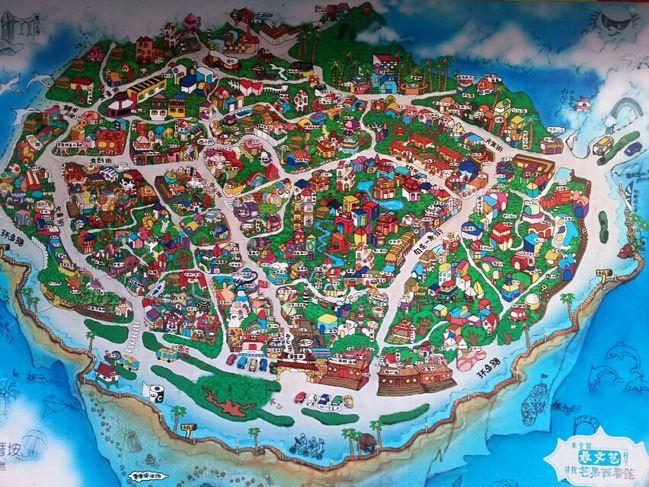 墙上的手绘地图