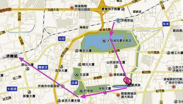 泰山详细景点线路图