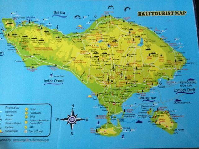 这是巴厘岛的地图,可以在百度多搜几张