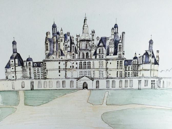 迪士尼建筑手绘