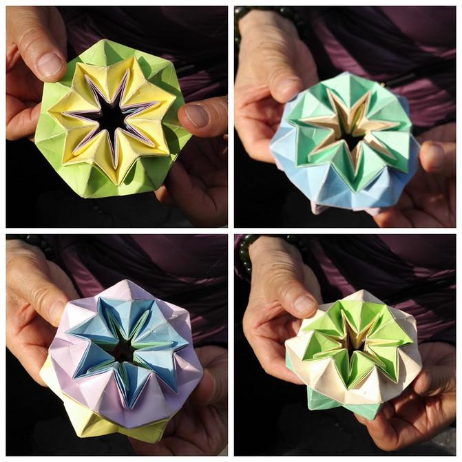 软彩纸剪花的步骤图片