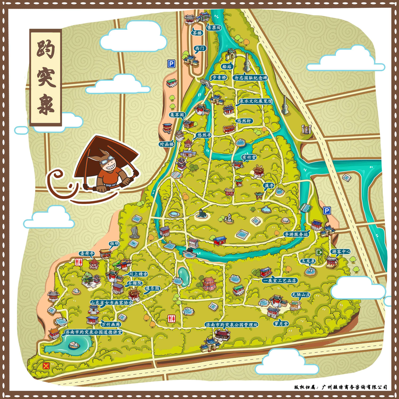 趵突泉景区手机导游【全景地图,园内导航,线路推荐,自动讲解】