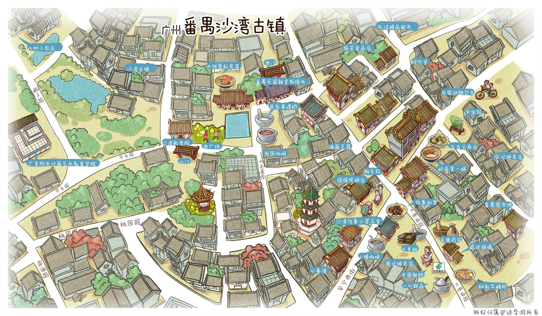 沙湾古镇手机导游【全景地图,园内导航,线路推荐,自动