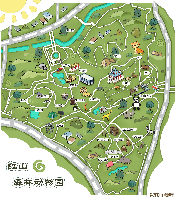 红山森林动物园手机导游【全景地图,园内导航,线路推荐,自动讲解】