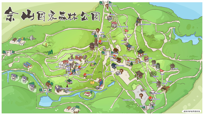 滨江森林公园手绘地图