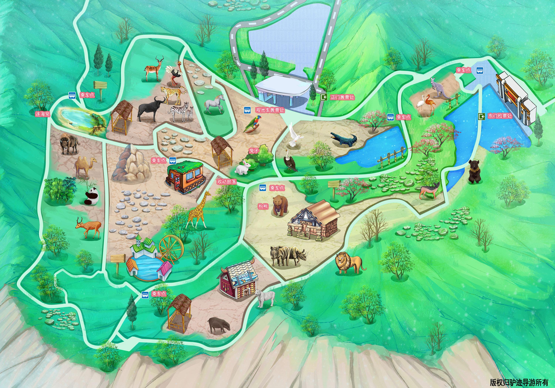 青岛森林野生动物世界手机导游【全景地图,园内导航,线路推荐,自动
