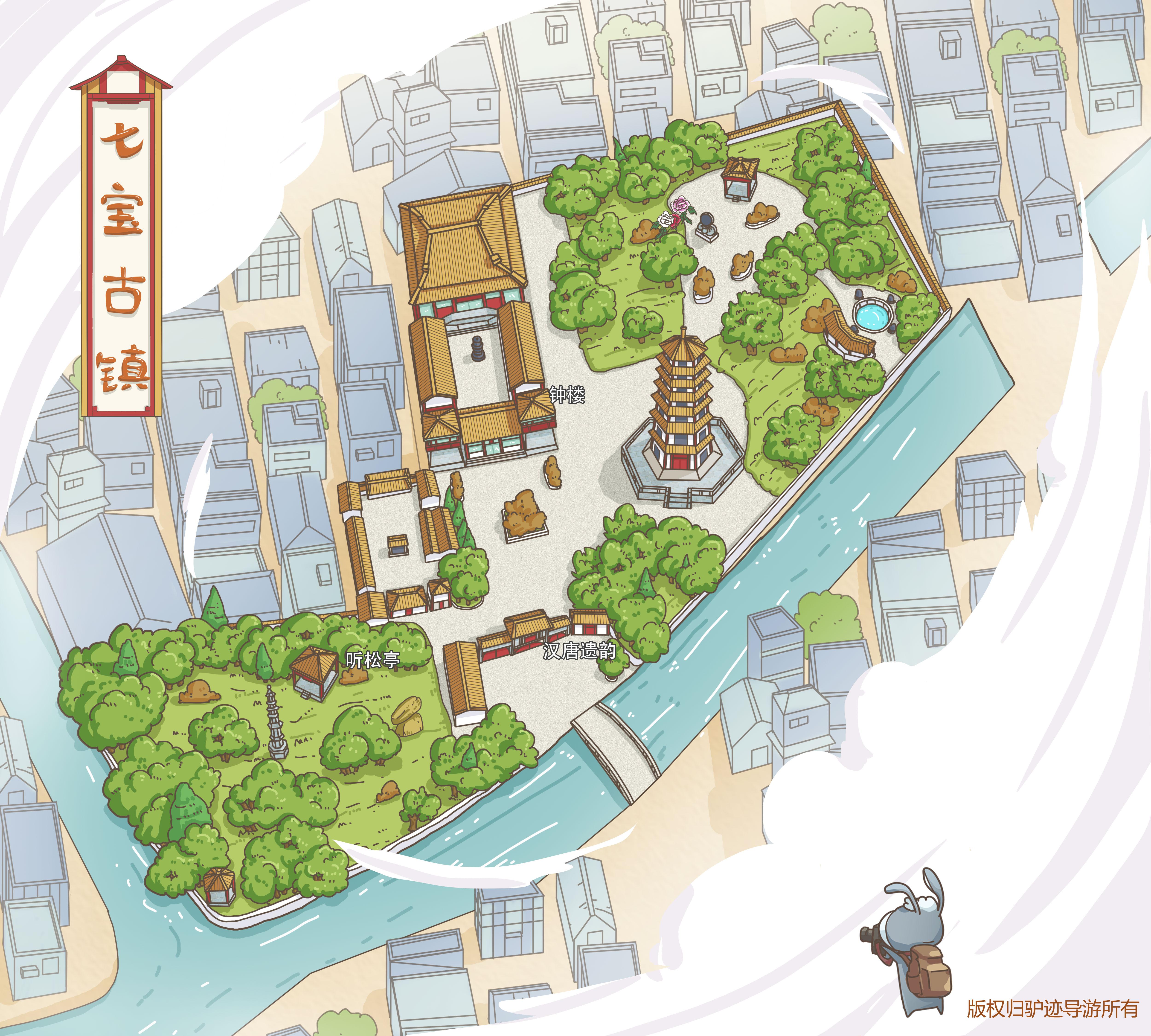 七宝古镇手机导游【全景地图,园内导航,线路推荐,自动