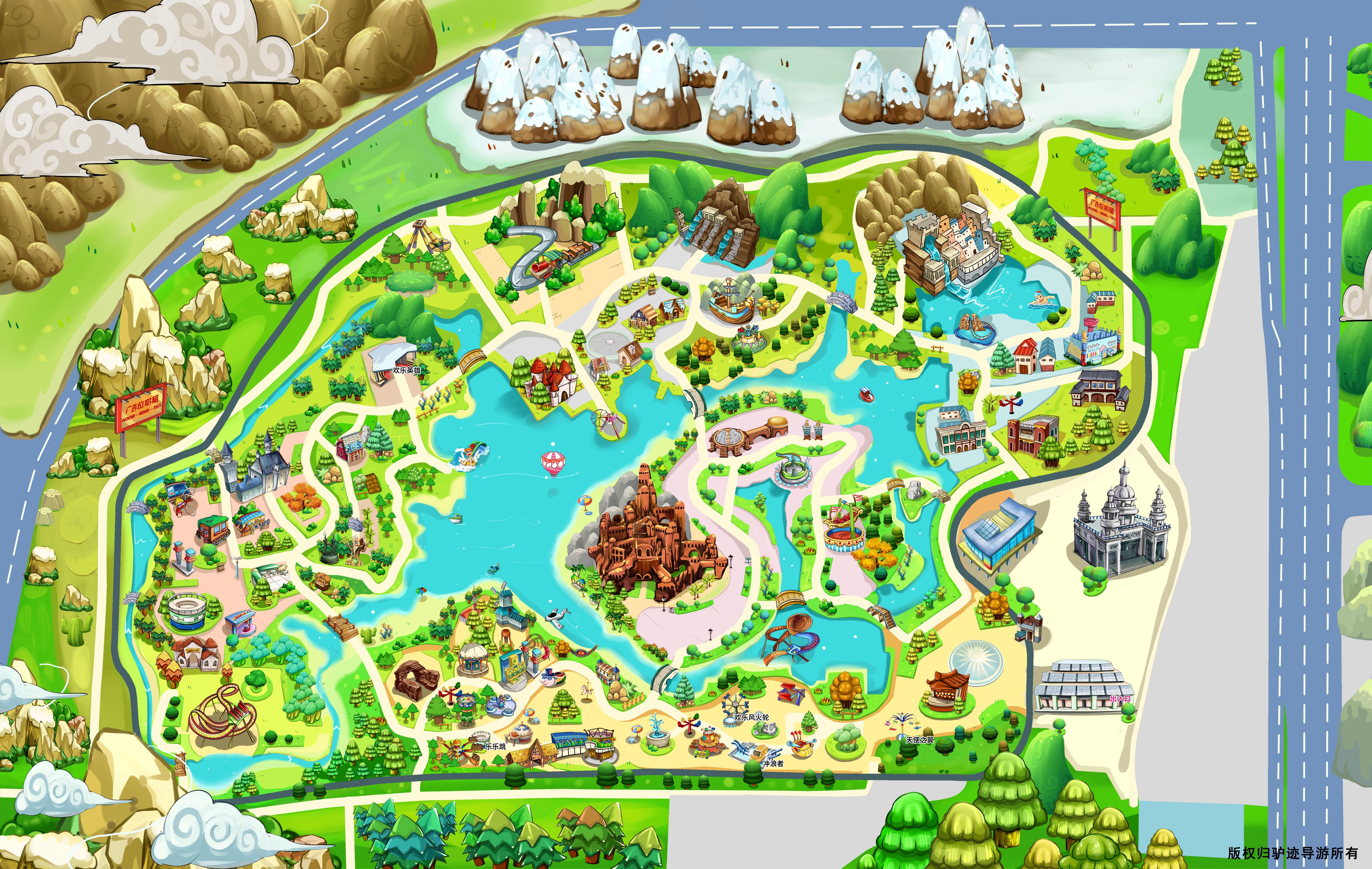 北京欢乐谷手机导游【全景地图,园内导航,线路推荐,自动讲解】