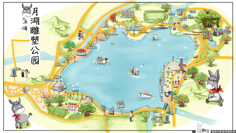 上海月湖雕塑公园手机导游【全景地图,园内导航,线路推荐,自动讲解】