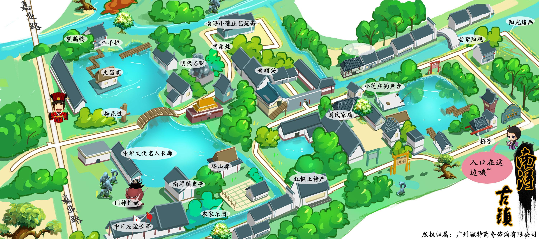 南浔古镇手机导游【全景地图,园内导航,线路推荐,自动
