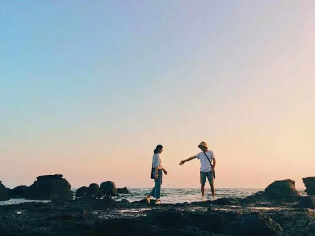 福建小垦丁 漳州镇海角 古火山遗址 月光沙滩捕蟹赶海