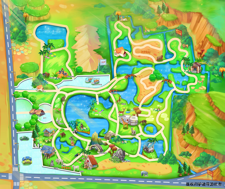 上海野生动物园手机导游【全景地图,园内导航,线路推荐,自动讲解】
