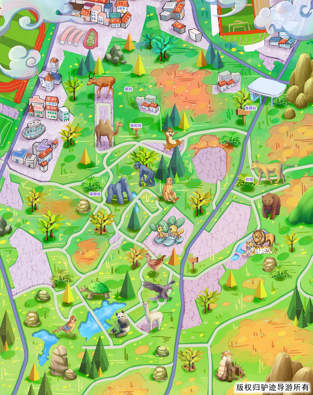 青岛动物园手机导游【全景地图,园内导航,线路推荐,自动讲解】