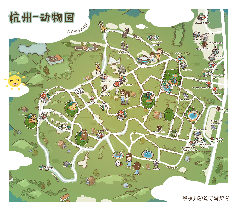 杭州动物园手机导游【全景地图,园内导航,线路推荐,自动讲解】
