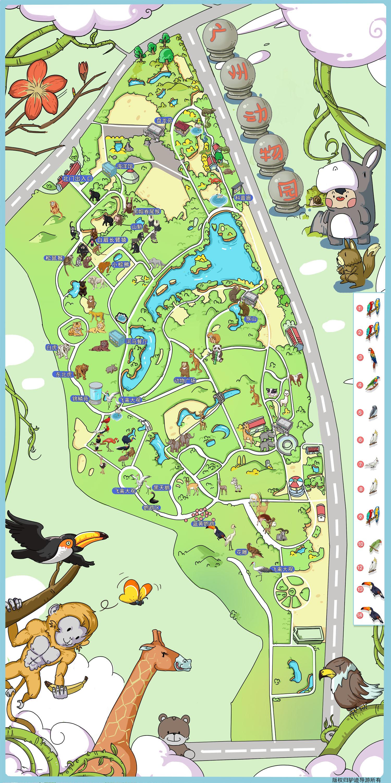 广州动物园手机导游【全景地图,园内导航,线路推荐,自动讲解】