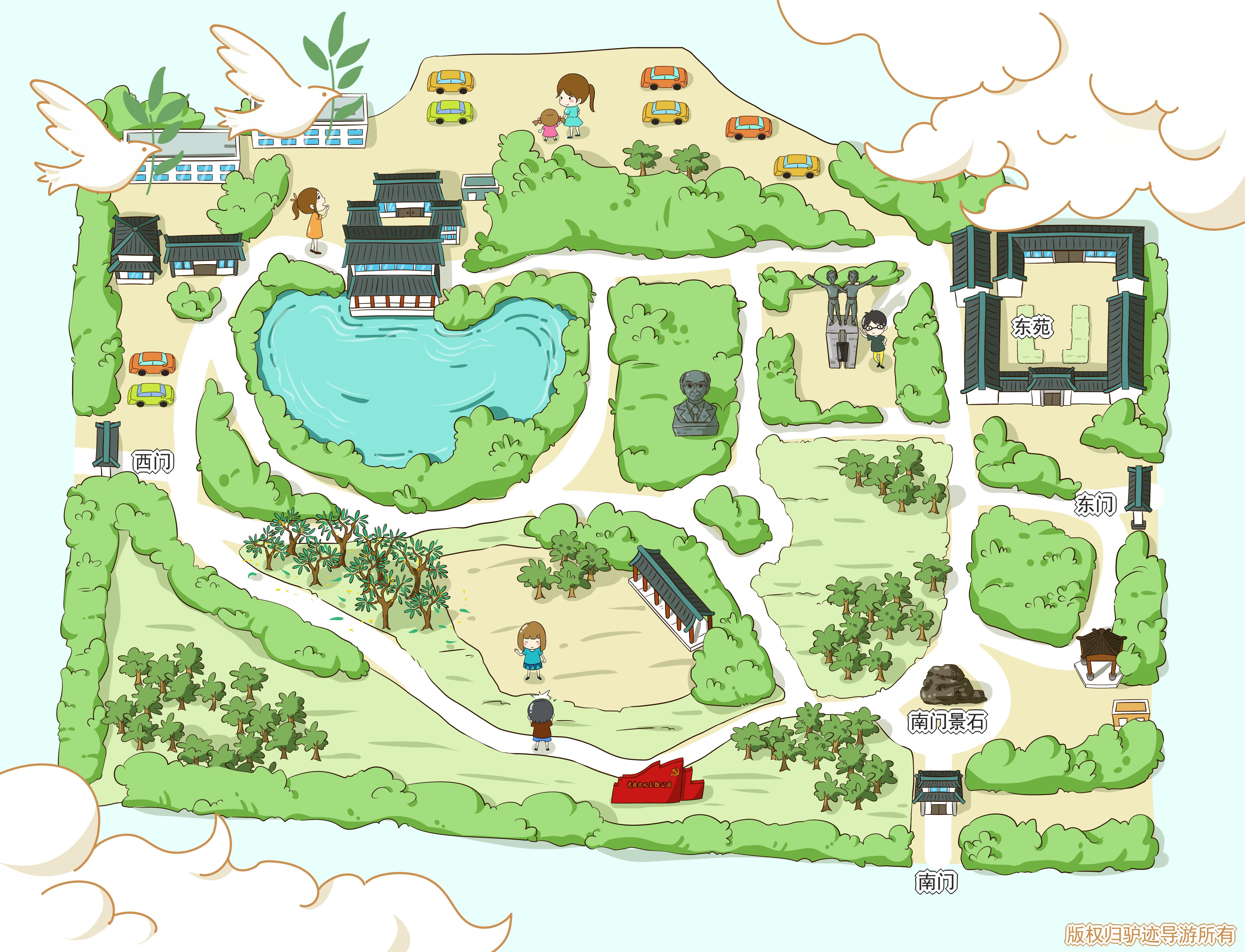 晓园公园手机导游【全景地图,园内导航,线路推荐,自动