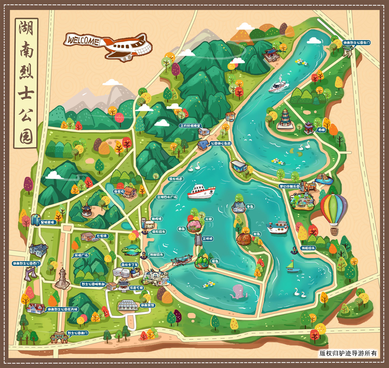 湖南烈士公园手机导游【全景地图,园内导航,线路推荐