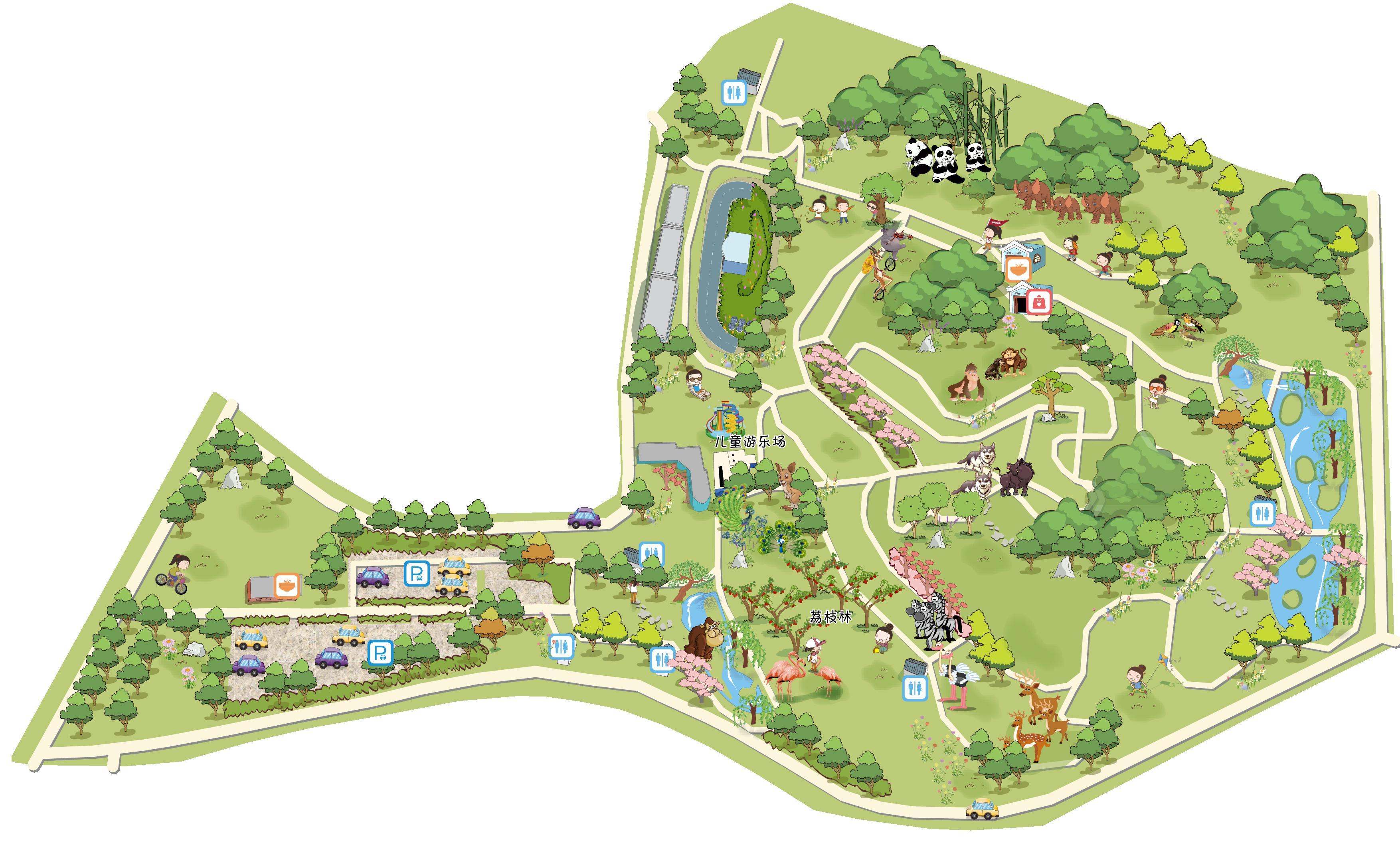 深圳野生动物园高清地图 图片合集