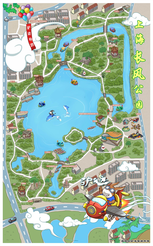 上海长风公园景区手机导游【全景地图,园内导航,线路推荐,自动讲解】