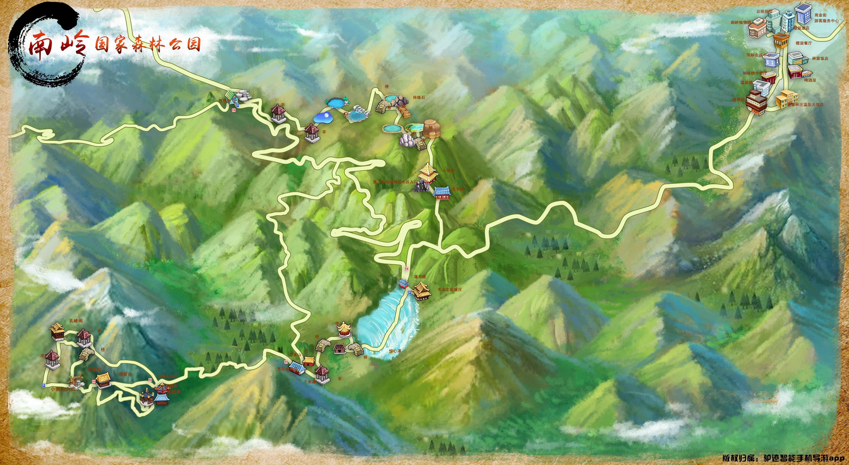 南岭国家森林公园手机导游【全景地图,园内导航,线路推荐,自动讲解】