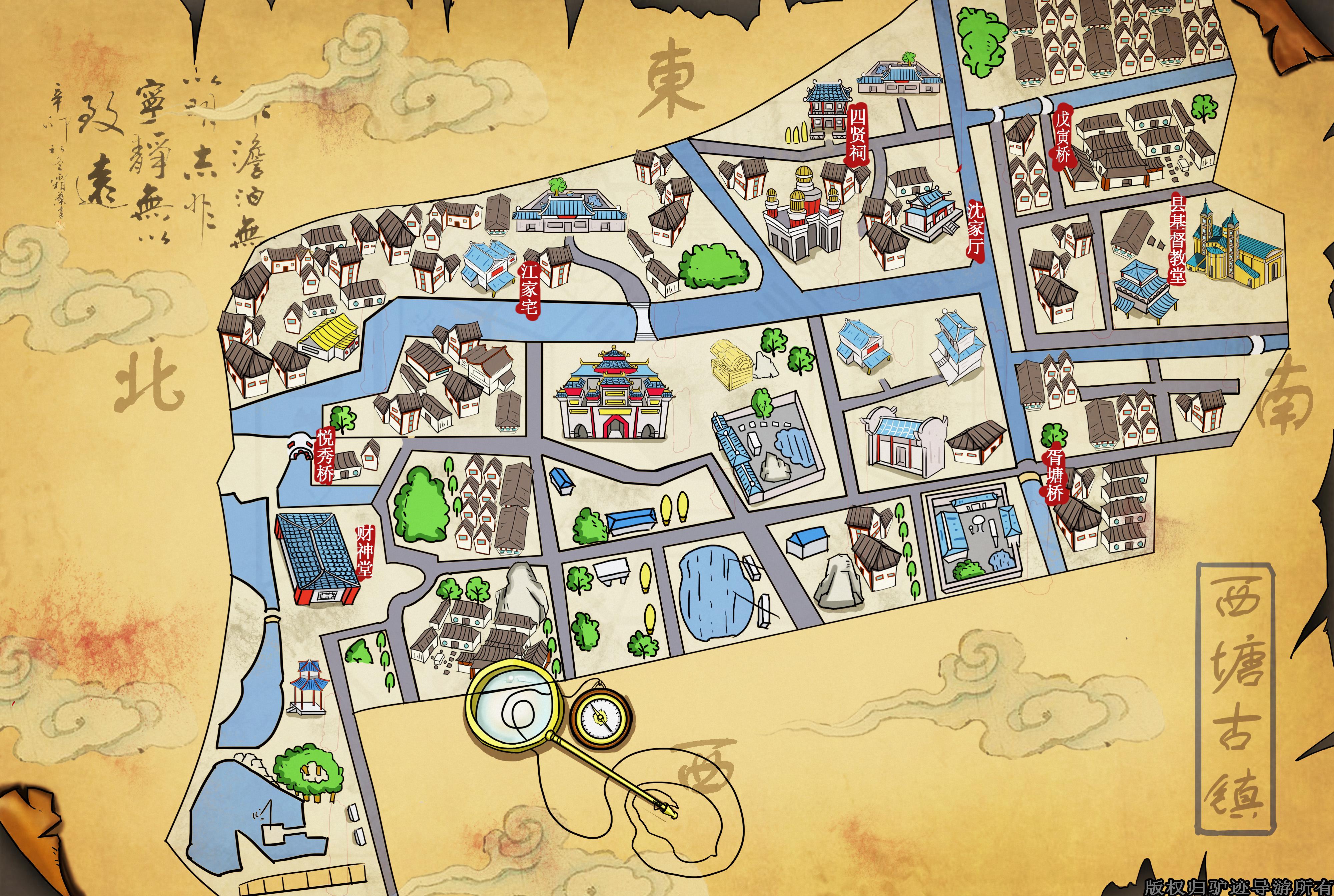 西塘古镇手机导游【全景地图,园内导航,线路推荐,自动