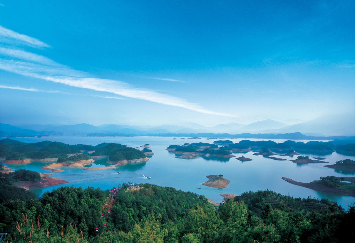 杭州千岛湖景区 中心湖区游船 月光群岛 梅峰岛一日游