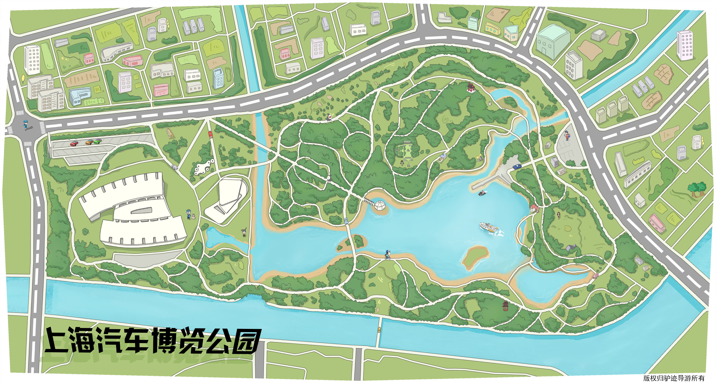 上海汽车博览公园手机导游【全景地图,园内导航,线路推荐,自动讲解】
