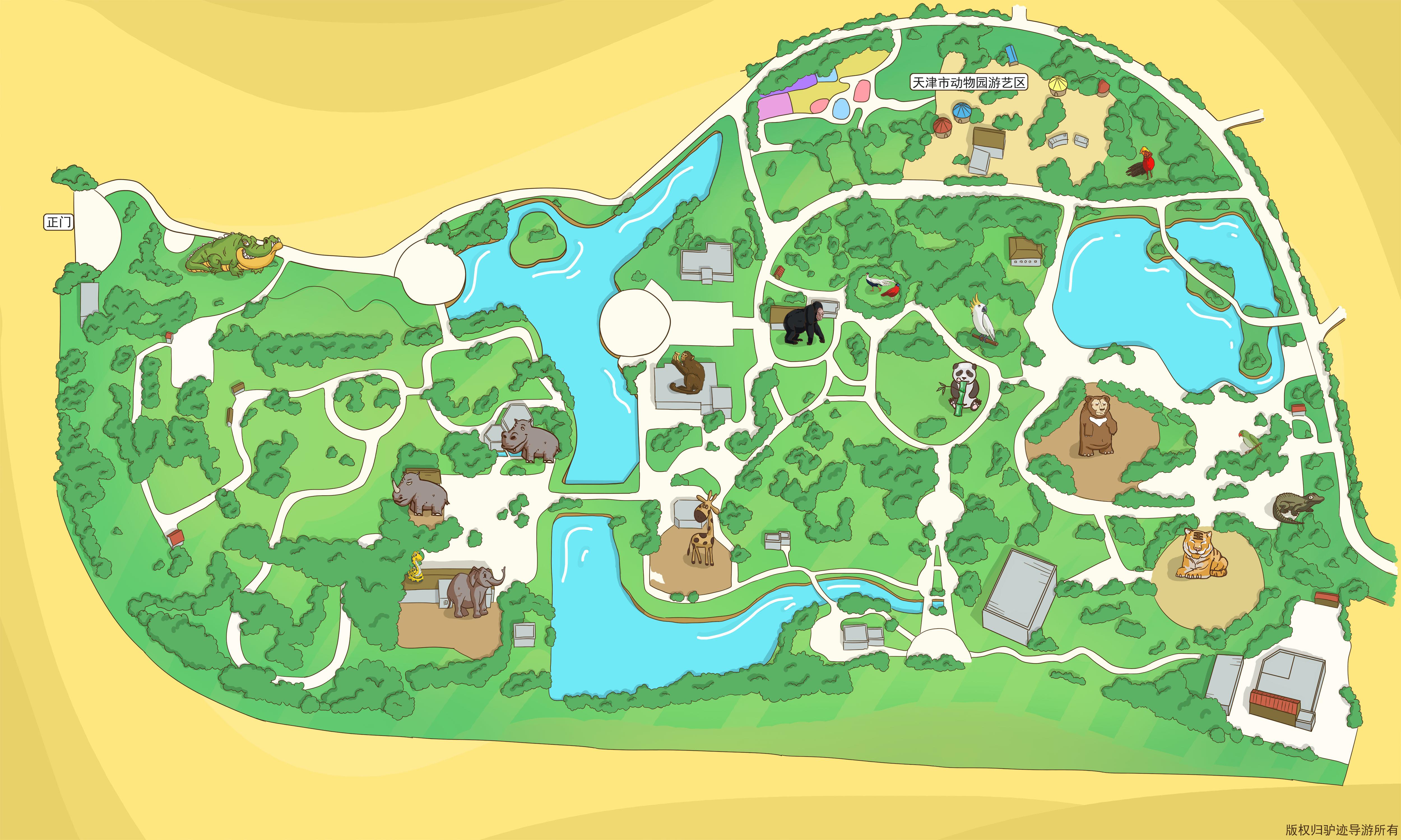 天津动物园手机导游【全景地图,园内导航,线路推荐,自动讲解】