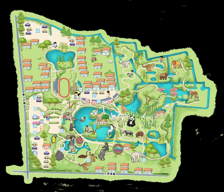 上海野生动物园-手机智能定位语音讲解【全彩地图导览