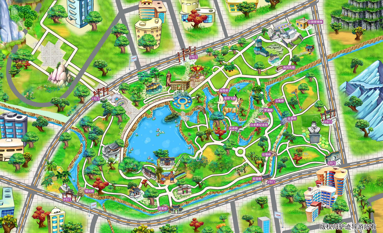 上海世纪公园手机导游【全景地图,园内导航,线路推荐