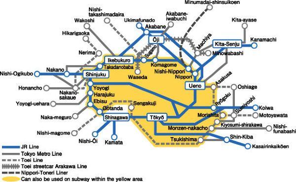 日本横滨旅游地图