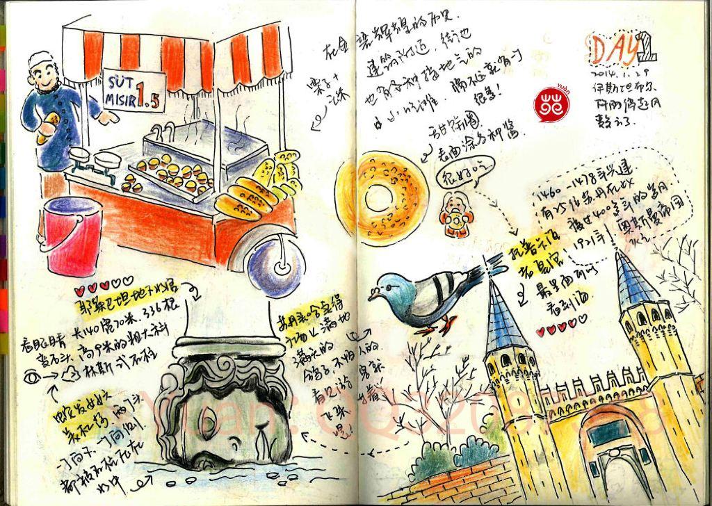 【土耳其】手绘旅行日记(阿里带我玩遍turkey)