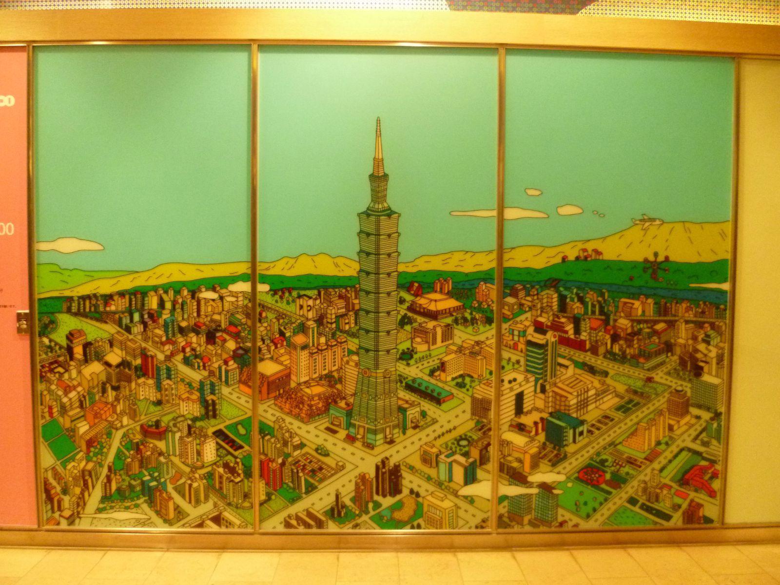 台北的手绘图.当然中间就是101