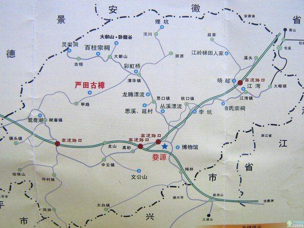 婺源手绘景点地图
