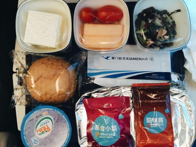 厦航飞机餐,还可以
