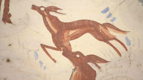 249窟壁画中留存了大量的动物形象