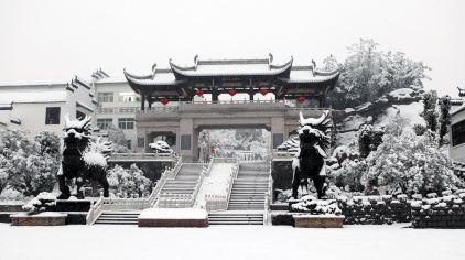 主大门雪景07
