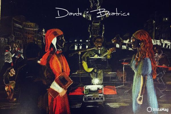 彩铅手绘-但丁与贝娅特丽斯