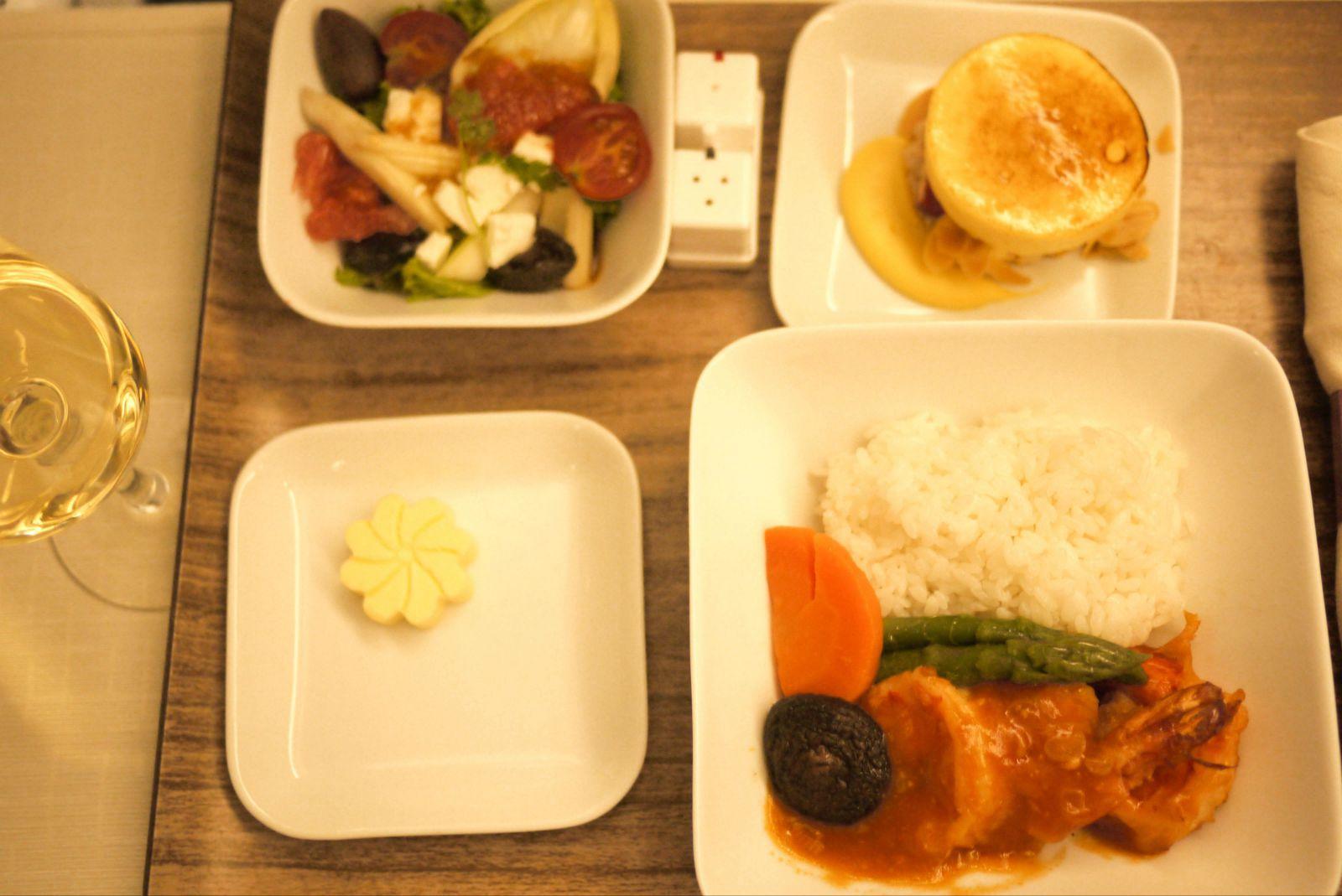 从日本出发的航班餐食就是一级棒