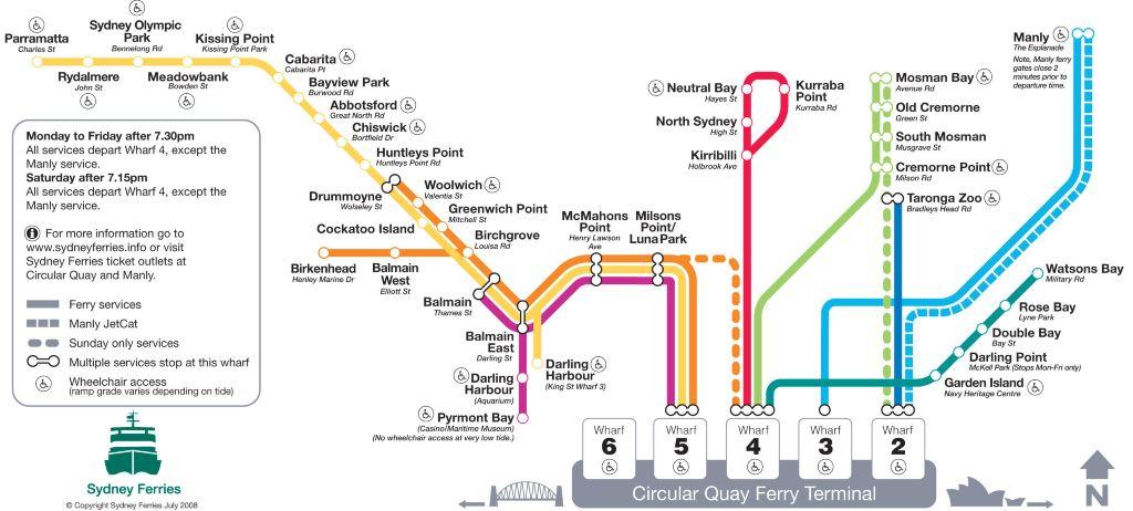 悉尼地铁路线图,交通非常方便