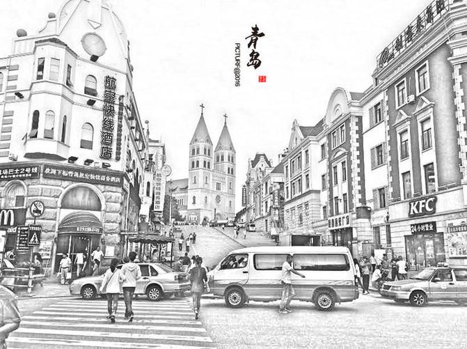 青岛中山路历史建筑