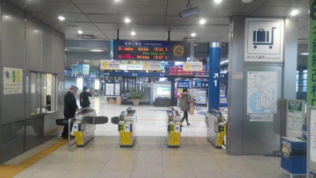 名古屋飞机场出来就是电车站