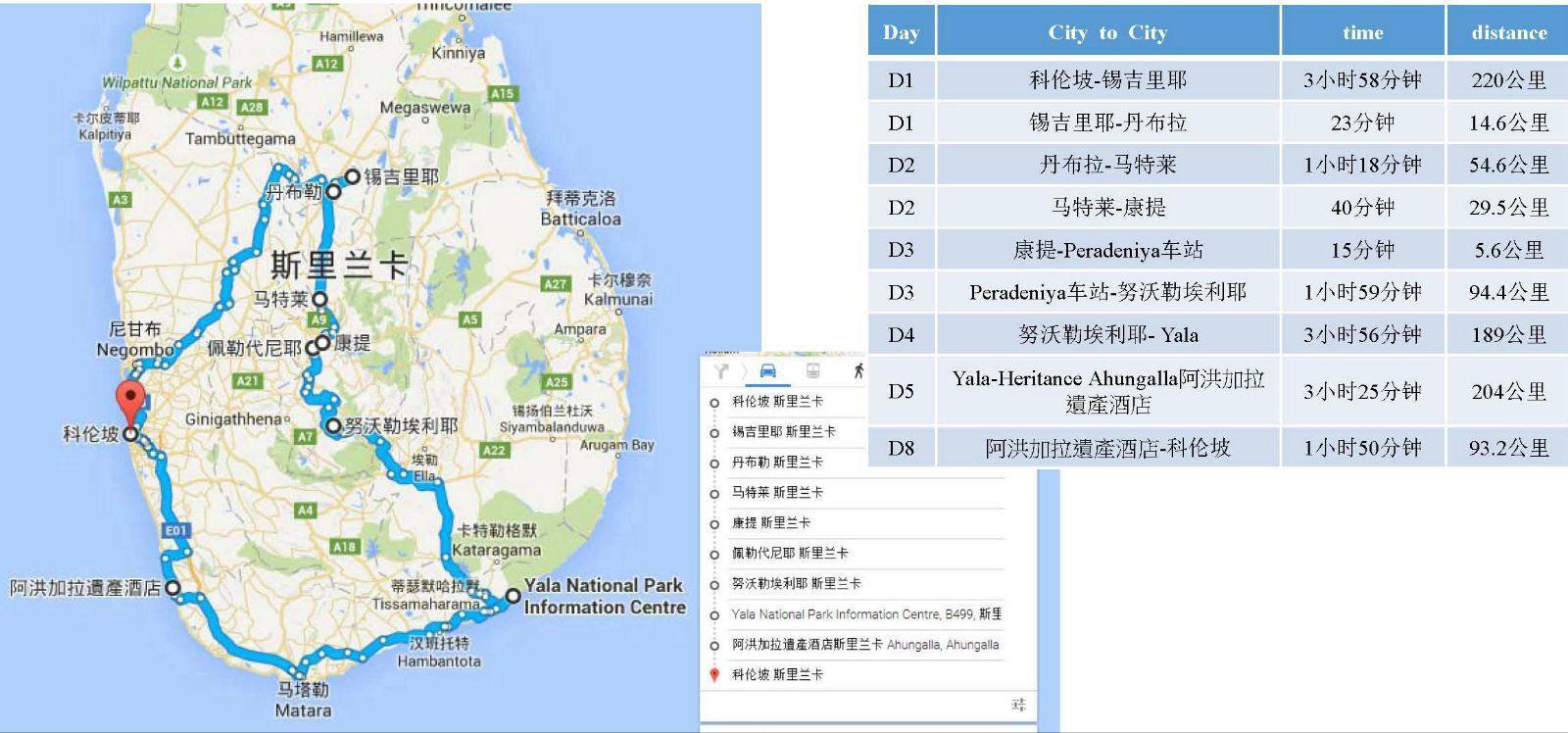 斯里兰卡地图中文版图片