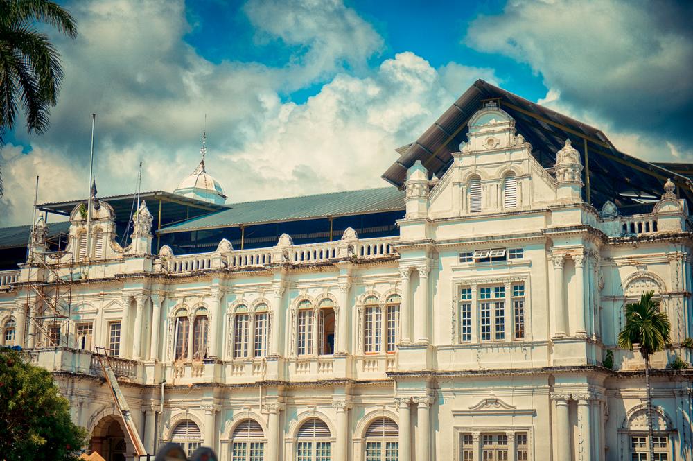 欧式古堡建筑黑白