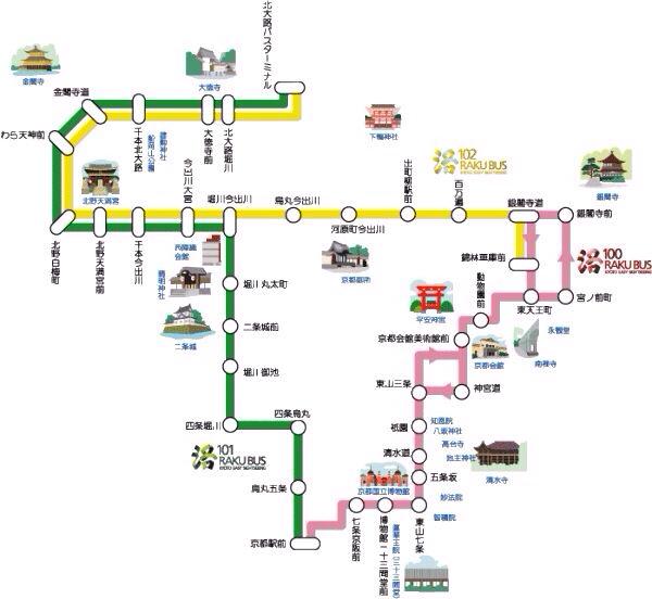 京都洛巴士线路图