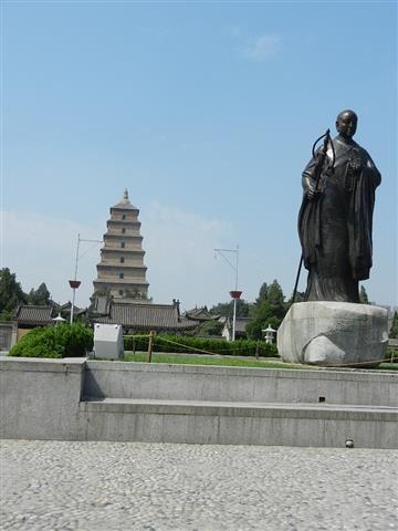 西安大雁塔玄奘塑像