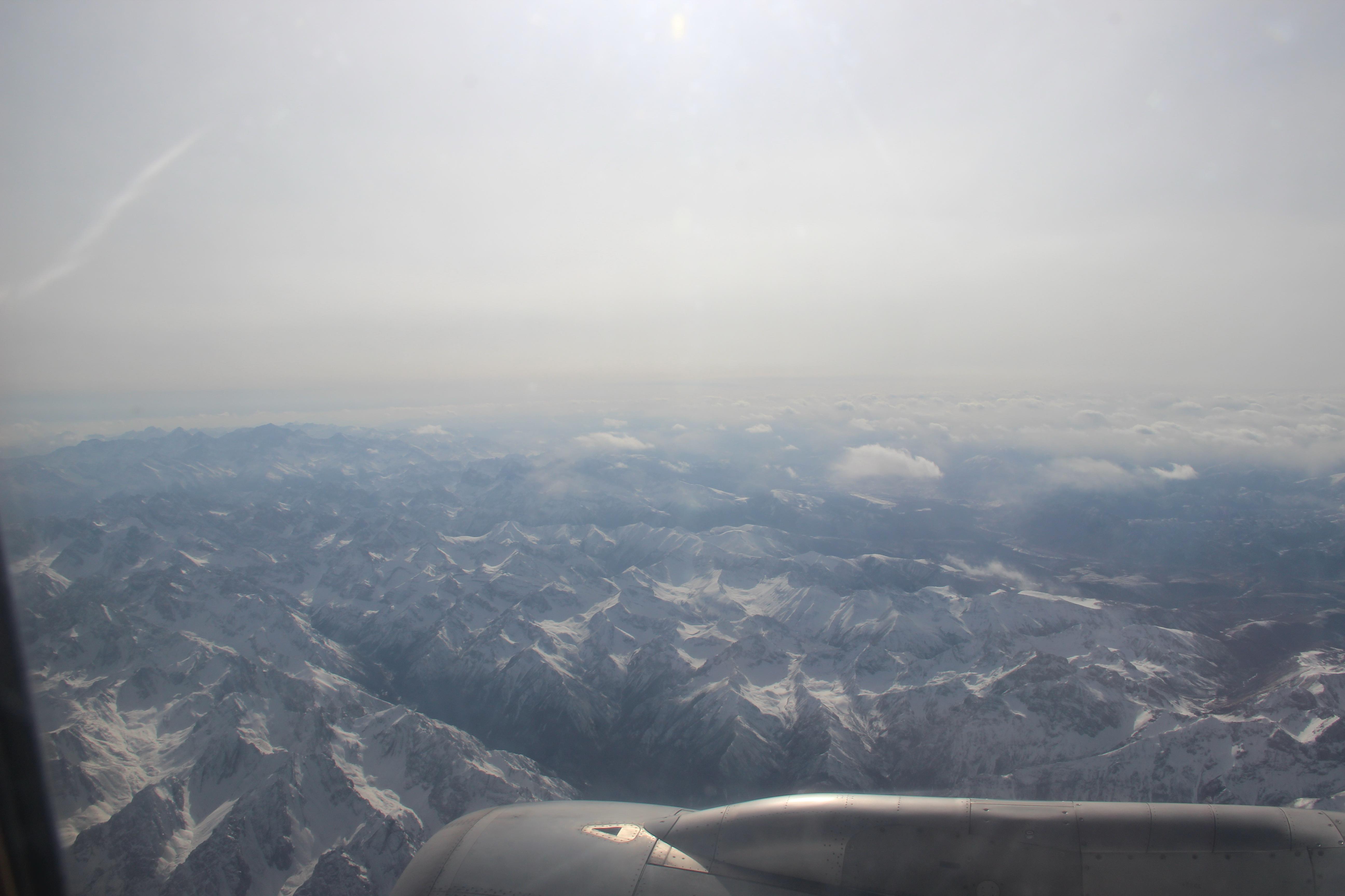 所以在飞机上看到的景色也觉得