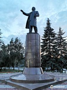 Monument to V.I. Lenin-鄂木斯克
