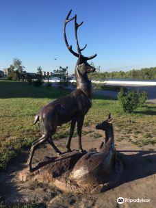 Sculpture Deers-鄂木斯克