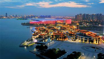 苏州工业园区苏艺中心和月光码头
